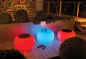 Preview: Bubble LED Accu Outdoor Moree - Beistelltisch Sitzgelegenheit Hocker RGB Farbwechsel Multicolor