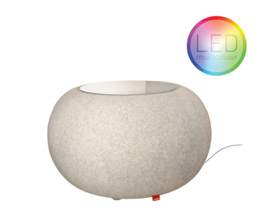 Bubble Granite INDOOR LED Mulitcolor E27 Farbwechsel Beistelltisch Moree