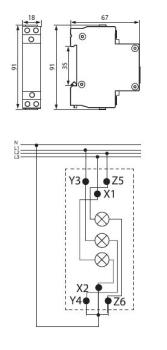 SL-RGB 3in1 LED Kontrolllampe für Verteilerkästen