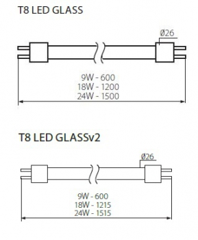 LED-Röhre SMD T8 120cm 4000K 18W neutralweiss 2160Lm Kanlux