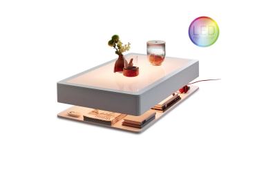 ORA HOME LED PRO Couchtisch Moree 28-16-01 multicolor incl. Glasplatte