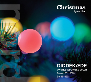 Driver Snowball 80 Ball LED Kette multi color Lichterkette Christmas by Nordlux IP44