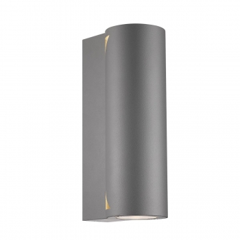 led fachhandel led wandleuchte dream 2 nordlux silber uplight downlight f r aussen. Black Bedroom Furniture Sets. Home Design Ideas