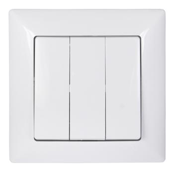 led fachhandel gunsan visage 3 fach schalter lichtschalter serienschalter weiss. Black Bedroom Furniture Sets. Home Design Ideas