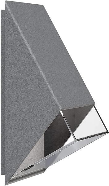 Aufputz Taster mit Lichtsymb u Glimmlampe 10AX//250V~//IP44 grau anthrazit//weiss
