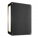 16W LED Wandleuchte Tamar Panel Wall Black NORD IP54 4x300Lm